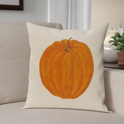 Lil Pumpkin Holiday Print Throw Pillow Size: 18 H x 18 W, Color: Off White
