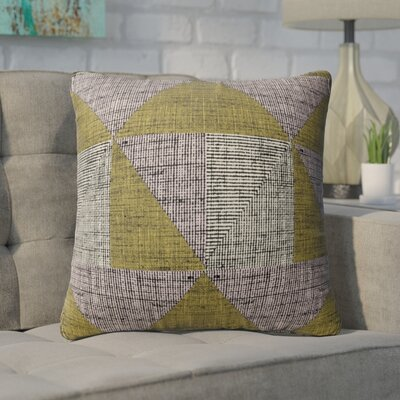 Wolfe Textured Triangles Indoor/Outdoor Throw Pillow Size: 26 H x 26 W x 6 D