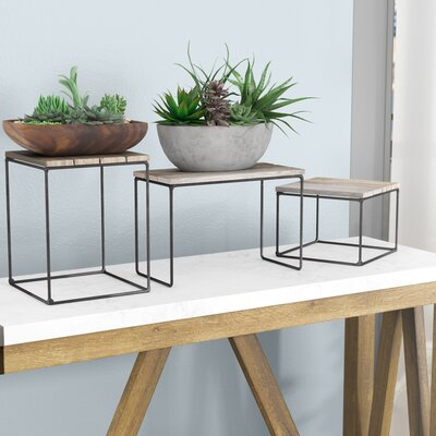 Hughes Top Riser 3 Piece Nesting Tables