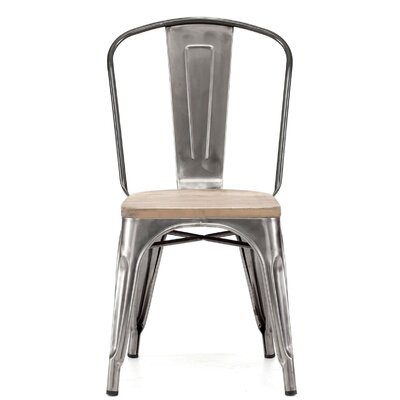 Despres Glossy Elm Wood Stackable Dining Chair Color: Light Gunmetal