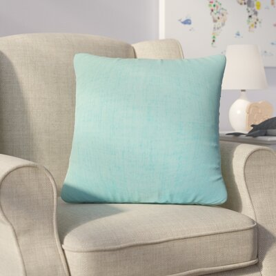 Helton Solid Throw Pillow Color: Turquoise