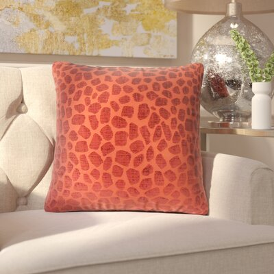 Romina Geometric Throw Pillow Color: Cinnabar