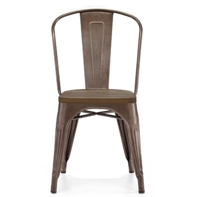 Despres Glossy Elm Wood Stackable Dining Chair Color: Rustic