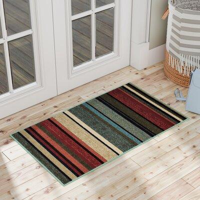 Carnlougherin Striped Doormat Rug Size: 16 x 27