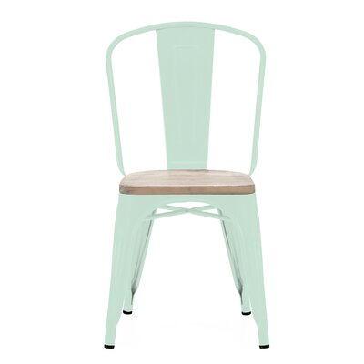 Despres Glossy Elm Wood Stackable Dining Chair Color: Mint
