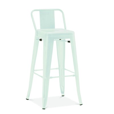 Despres Low Back Steel Counter 26 Bar Stool Color: Matte Mint