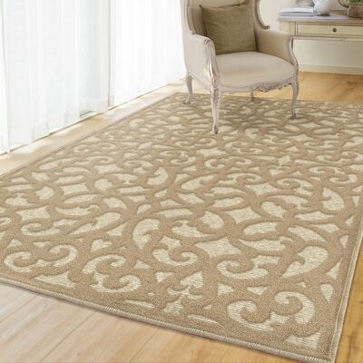 Farr Beige Indoor/Outdoor Area Rug Rug Size: Rectangle 53 x 76
