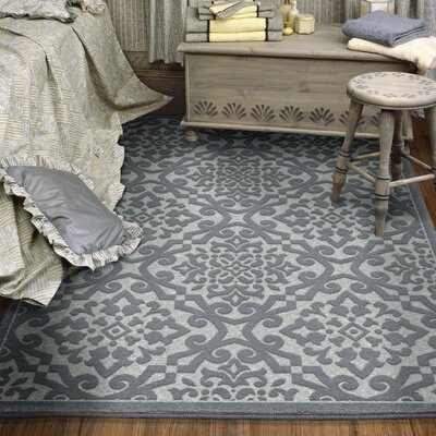 Farrel Gray Indoor/Outdoor Area Rug Rug Size: Rectangle 53 x 76