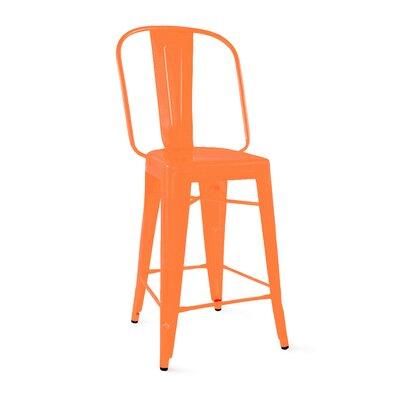 Despres Steel Counter 26 Bar Stool Color: Orange