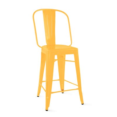 Despres Steel Counter 26 Bar Stool Color: Yellow