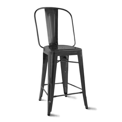 Despres Steel Counter 26 Bar Stool Color: Matte Black
