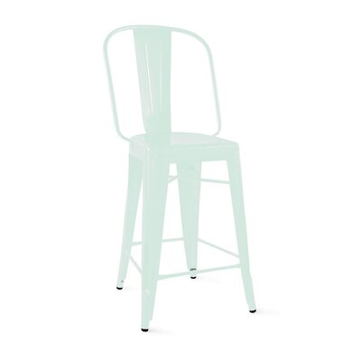 Despres Steel Counter 26 Bar Stool Color: Matte Mint