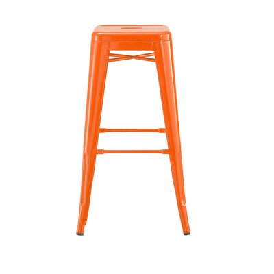 Despres Steel Stackable 30 Bar Stool Color: Orange