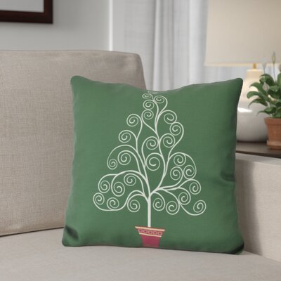 Away He Goes Throw Pillow Size: 18 H x 18 W, Color: Green