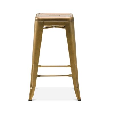 Despres Steel Stackable Counter 26 Bar Stool Color: Brass