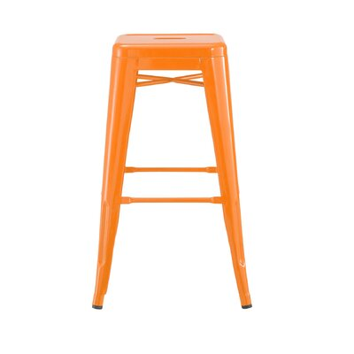Despres Steel Stackable Counter 26 Bar Stool Color: Orange