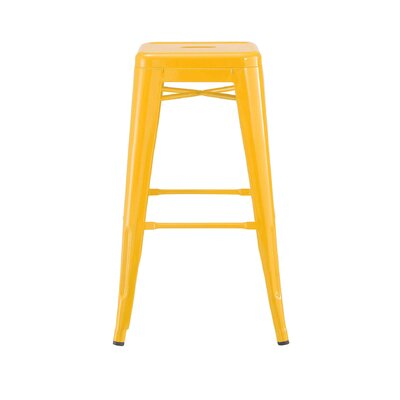 Despres Steel Stackable Counter 26 Bar Stool Color: Yellow