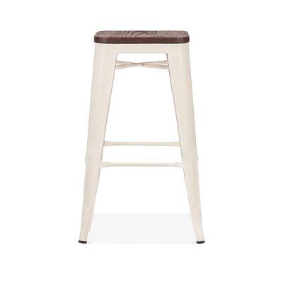Despres Steel Stackable Counter 26 Bar Stool Color: Cream