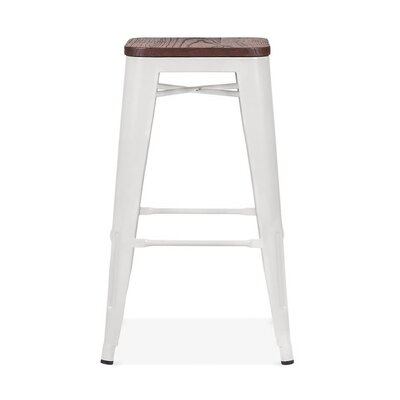 Despres Steel Stackable Counter 26 Bar Stool Color: White