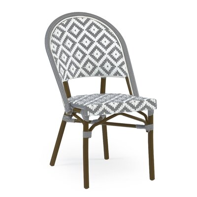 Dipietro Bamboo Stackable Dining Chair Upholstery Color: Gray/Brown