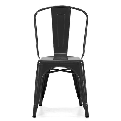 Despres Glossy Stackable Dining Chair Color: Glossy Black