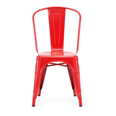 Despres Glossy Stackable Dining Chair Color: Glossy Red