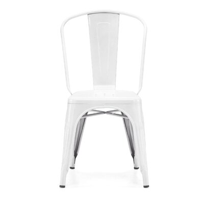 Despres Glossy Stackable Dining Chair Color: Glossy White