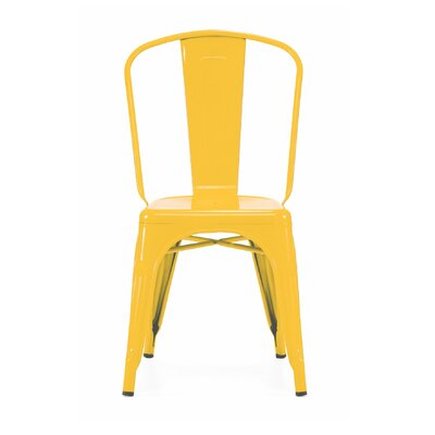 Despres Glossy Stackable Dining Chair Color: Glossy Yellow