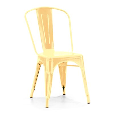 Despres Glossy Stackable Dining Chair Color: Metallic Gold