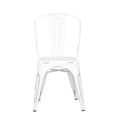 Despres Glossy Stackable Dining Chair Color: White/Black