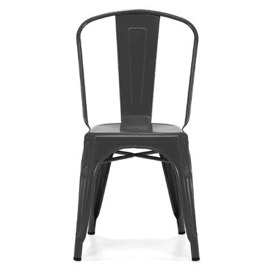Despres Glossy Stackable Dining Chair Color: Matte Black