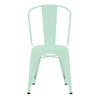 Despres Glossy Stackable Dining Chair Color: Matte Mint