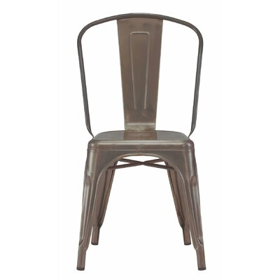 Despres Glossy Stackable Dining Chair Color: Rustic Matte