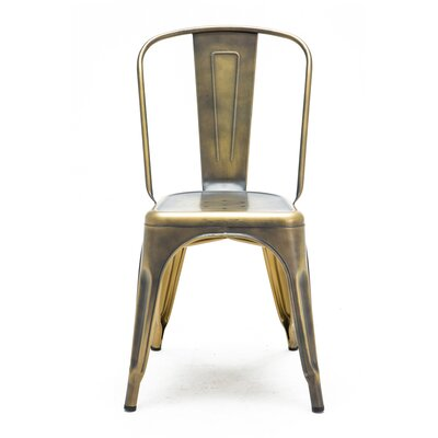Despres Glossy Stackable Dining Chair Color: Brass