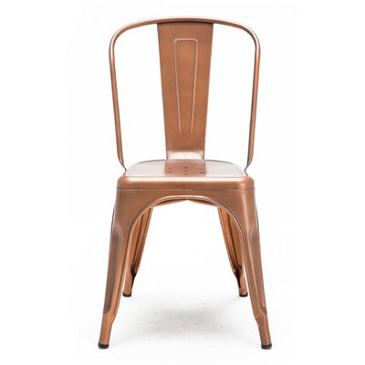 Despres Glossy Stackable Dining Chair Color: Light Copper