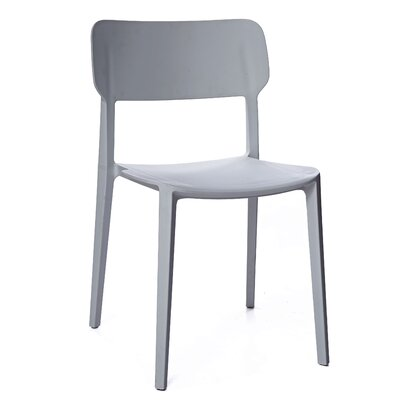 Gourley Modern Stackable Dining Chair Color: Gray