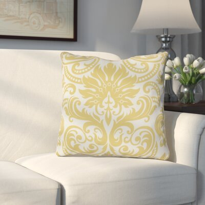 Hanriette Print Napkin Outdoor Throw Pillow Size: 18 H x 18 W x 3 D, Color: Gold