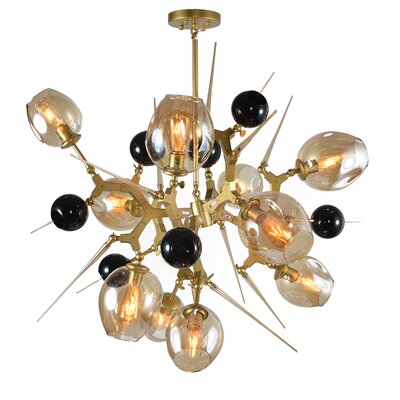 Holly Hills 10-Light Aluminum Sputnik Chandelier