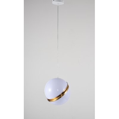 Gottschalk Single Ball ORB 1-Light Mini Pendant Size: 8 H x 8 W x 8 D