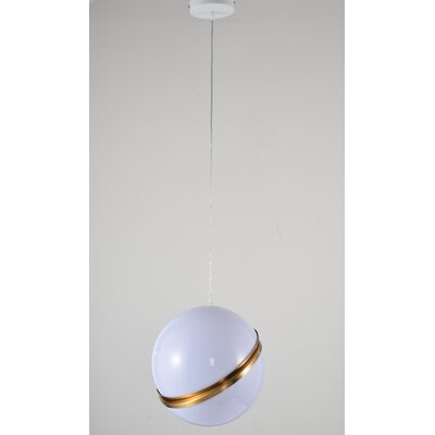 Gottschalk Single Ball ORB 1-Light Mini Pendant Size: 12 H x 12 H x 12 D