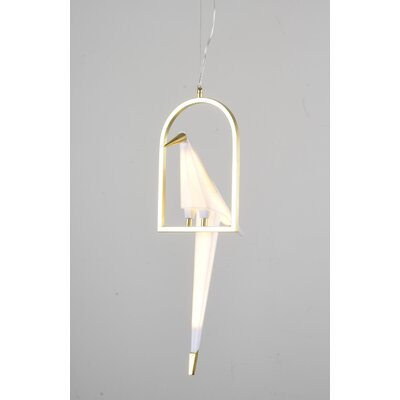 Pitchford LED Single Bird Geometric Pendant