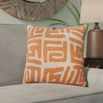 Kreta Linen Throw Pillow Size: 22 H x 22 W x 4 D, Color: Rust/Beige