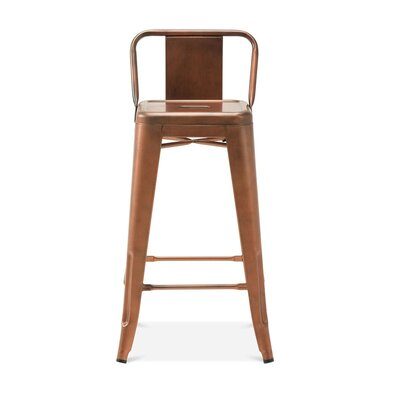 Despres Low Back Steel Counter 26 Bar Stool Color: Copper