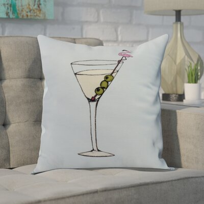 Carmack Throw Pillow Color: Pale Blue, Size: 16 x 16