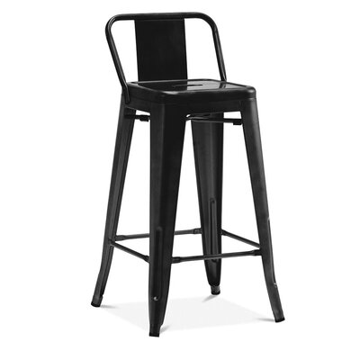 Despres Low Back Steel Counter 26 Bar Stool Color: Matte Black
