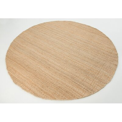 Hanlin Hand-Woven Natural Area Rug Rug Size: Round 8