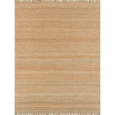 Hanlin Hand-Woven Natural Jute Area Rug Rug Size: Rectangle 9 x 13