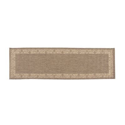 Veranda Border Cocoa Indoor/Outdoor Area Rug