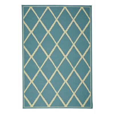 Lattice Surry Light Blue Indoor/Outdoor Area Rug