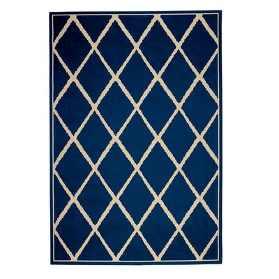 Lattice Surry Dark Blue Indoor/Outdoor Area Rug